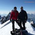 Andreas und ich am Gipfel