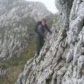 Johannes beim queren dieser Felspassage