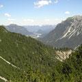Blick Richtung Reuthe in Tirol