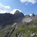 Blick zur Kleinen Leiterspitze