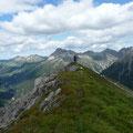 Am höchsten Punkt des Pimig mit Blick zur Ellbogner Spitze (Dahinter)