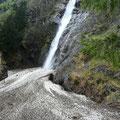 Unterhalb des Partschinser Wasserfalles