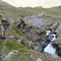 Abstieg durchs Grubplattental am Ginglbach entlang