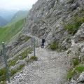 Abstieg Richtung Anhalter Hütte