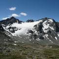Sesvenna Gletscher mit Piz Sesvenna und Muntpitschen