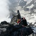 Die letzte Kltterpassage vor dem Gipfel
