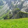 Gratköpfe unterhalb des Grünen Gräshorns