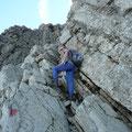 Aufstieg im Kamin