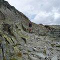 Abstieg von der Hütte