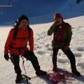 Aufstieg im Gletscher