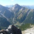 Ruitelspitze:Rechts. Zwölferspitze:Links. Gesehen von der Wannenspitze.