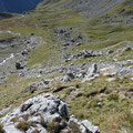 Abstiegsgelände Richtung Kaisertal