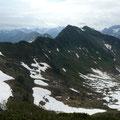 Im Hintergrund,der Widderstein.Davor,das Grünhorn mit dem Gratweg zum Steinmanndl