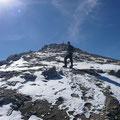 Nur noch wenige Meter zum Gipfel