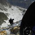 Ingrid beim Abstieg vom Lodner