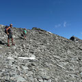 In der Gipfelflanke der Plattenspitze kurz vor dem Gipfelgrat
