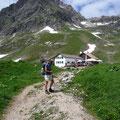 Obere Widdersteinhütte mit Großem Widderstein