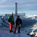 Kurt Ortler und ich am Gipfel der Königsspitze