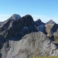 Von rechts:Biberkopf,Peischlspitze,Wildmahdspitze und Ellbogner Spitze