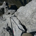 Schlüsselstelle der Holzgauer Wetterspitze beim Abstieg.