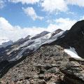 Blick zu den Gletschern und zur Planeiler Scharte