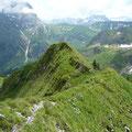 Kurz vor der Hinteren Üntschenspitze