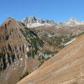 Rotwand,Söllerköpfe und Kreuzkarspitze von Osten gesehen.