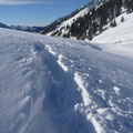Unsere Spur im Schnee