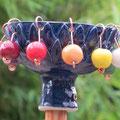 Teelicht- / Kerzenhalter oder Vogeltränke zum Aufschrauben auf einen Holzstab