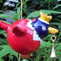 Eingangsvogel mit Messingglöckchen