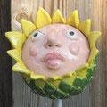 Keramikstabkopf gelbe Blüte