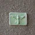 Kleine Wandfliese für Aussen nach einem antiken Spekulatiusmodel