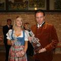 """2010 - Preiträgerin """"Intern. Volksmusikpreis"""" zusammen mit Stefan"""