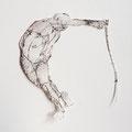 """""""Gleichgewicht"""" (2014) Grafik Schnitt, 37x31 cm"""
