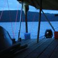 Ein letzter Blick aus dem Zelt: