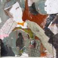 o.T. | Collage, Mischtechnik | 55 x 49 cm