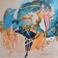 bewegte Welt| Schnitt-Collage | 60 x 80 cm