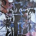 Ligatur | Schnitt-Collage | 100 x 80 cm