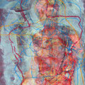hinterliniert | Papier  Mischtechnik | 70 x 50 cm