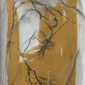 gelbe Seite 2 | Vlies  Mischtechnik | 80 x 60 cm
