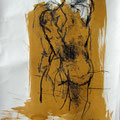 gelbe Seite 1 | Vlies  Mischtechnik | 80 x 60 cm