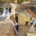 Sanierung einer Fischtreppe an der Freiberger Mulde