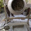 préparation du mélange chaux-chanvre