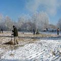 Beräumung des Mähgutes zur Erhaltung offener Wasserflächen