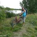 Mit dem Fahrrad zur Reusenkontrolle