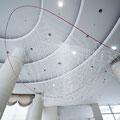 済生会金沢病院80周年記念モニュメント | 250, 530, 450cm | レーヨン組紐, ポリエステル組紐, プラスチックポール, ステンレスパイプ, 製本テープ