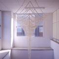 柔かく現れる形 | 4m, 3.5m, 3m | 精麻(野州麻紙工房提供), レーヨン組紐
