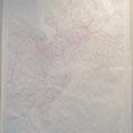 赤い網 | 78.8cm, 109.1cm | 50万分の1地方図、アクリル絵の具