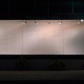 北陸銀行 金沢小立野支店 ショーウィンドー展示  [  bright / tight  light  ] | 1.9m, 6.7m, 0.5m|金糸(唐打紐)