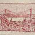 2014 - Carnet de voyage, Crayon sur papier - Lisbonne au Portugal